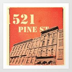 Pine St Art Print
