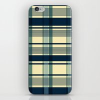 Blue Plaid Pattern iPhone & iPod Skin
