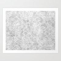 White Lace Art Print