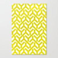 Yellow Geometry Pattern Canvas Print