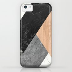 Marble and Wood Abstract iPhone 5c Slim Case