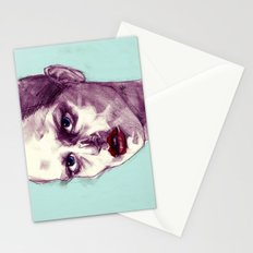 Scary Dirty Face with Red Lips Stationery Cards