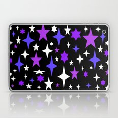 Purple Blue Atomic Stars Laptop & iPad Skin