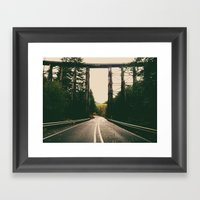 Autumn Bridge Framed Art Print
