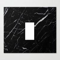 Black Marble - Alphabet I Canvas Print