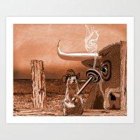 Bulls Eye Art Print