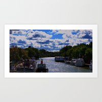 Living On The Canal Art Print