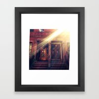Doors With Flare Framed Art Print