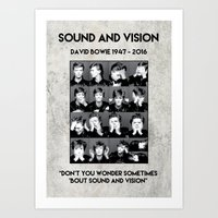 Bowie : Sound And Vision Art Print