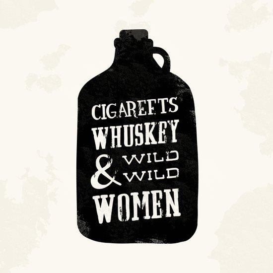 Cigareets & whuskey Canvas Print