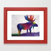 Mooza Moose Framed Art Print