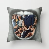 Untitled Vintage Collage Throw Pillow