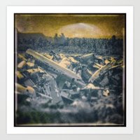 Salvage Airplanes - circa WWIIpsd - 66 of 479 Art Print