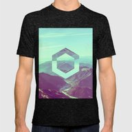 Reflection Of Self V2 #s… Mens Fitted Tee Tri-Black SMALL
