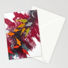 Aiming for the moon Stationery Cards