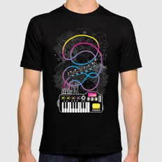 Music Coaster Mens Fitted Tee Black SMALL
