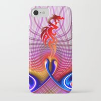 dragon iPhone & iPod Cases featuring Dragon by haroulita