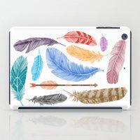 Feathers on White iPad Case
