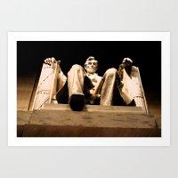 Lincoln stirs Art Print