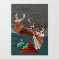 Origami Deer Canvas Print