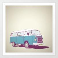 VW Combi v.02 Art Print