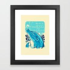 Aquatic problem Framed Art Print
