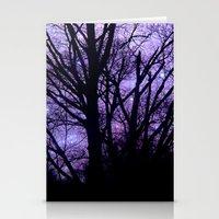 Purple Starry  Halloween Stationery Cards
