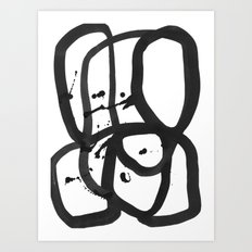 Black & White Abstract 1 Art Print
