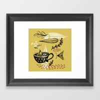 The Cup And The Moth Framed Art Print