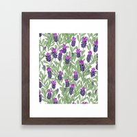 April Blooms(lavender) Framed Art Print