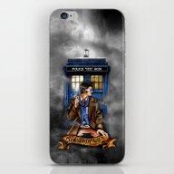 10th Doctor With Tardis … iPhone & iPod Skin