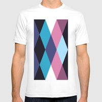 Diamond Pattern 3 Mens Fitted Tee White SMALL