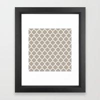 gray clover Framed Art Print