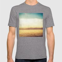 Gold And Teal Mens Fitted Tee Tri-Grey SMALL