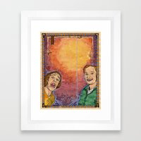 Us And Them (aka. Lovers) Framed Art Print