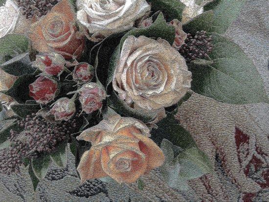 First Frost- Frozen Flowers  Art Print