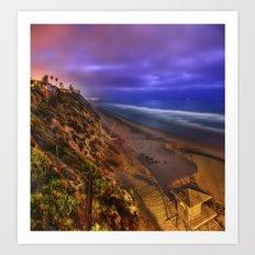 Encinitas Beach Art Print