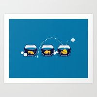 Art Print featuring Prepared Fish by Boots