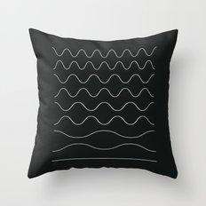 between waves Throw Pillow