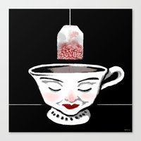 Tea (for zombies) Canvas Print