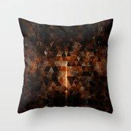 Gold Beam In Geometric S… Throw Pillow