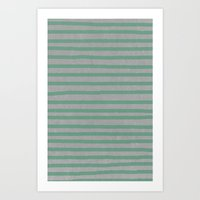 Concrete & Stripes Art Print