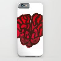 brain iPhone & iPod Cases featuring Brain by Myles Hunt
