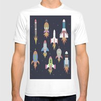 Rockets! Mens Fitted Tee White SMALL