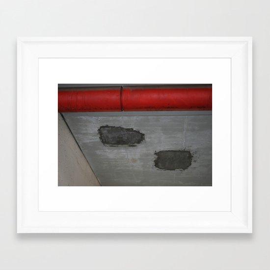 Red Pipe Framed Art Print