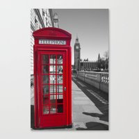 Big Ben And Red Telephon… Canvas Print