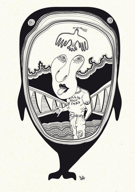 Inside the whale Art Print