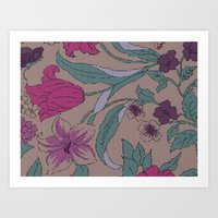 Floral Knit Art Print