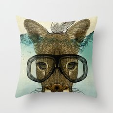 Skuba Roo and a white mouse Throw Pillow