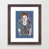 //Connor Franta: I Heart Coffee's// Framed Art Print